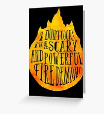 Fire Demon  Greeting Card