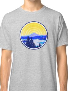 Vintage Golden Mountain Sunrise Classic T-Shirt