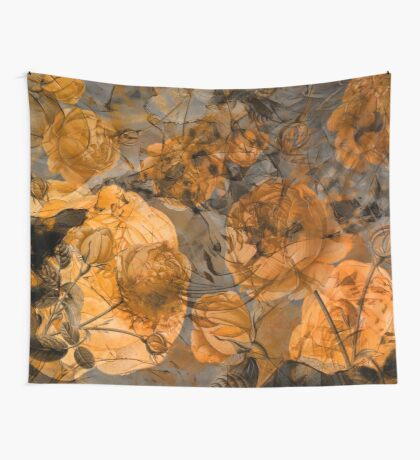 Floral brown Wall Tapestry