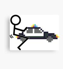 Fuck Police cool funny police car fucking icon Canvas Print