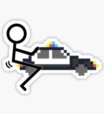 Fuck Police cool funny police car fucking icon Sticker