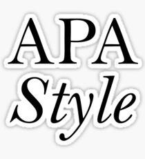 APA Style  Sticker