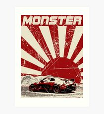 Nissan GTR monster Art Print
