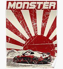 Nissan GTR monster Poster