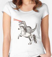 Raptor & Unicorn Women's Fitted Scoop T-Shirt