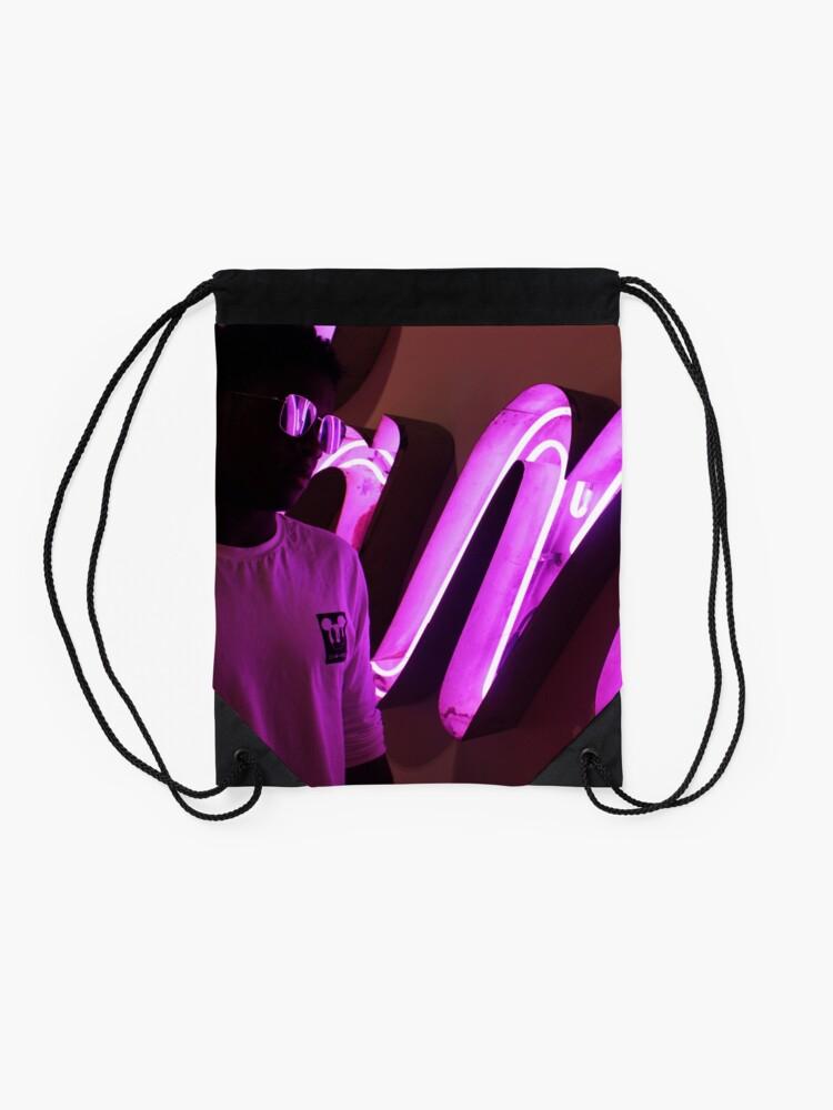 Vista alternativa de Mochila saco rosado