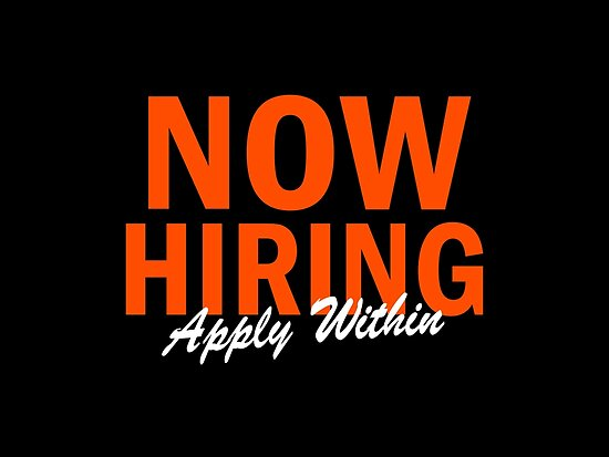 Now Hiring Apply Within by Garaga