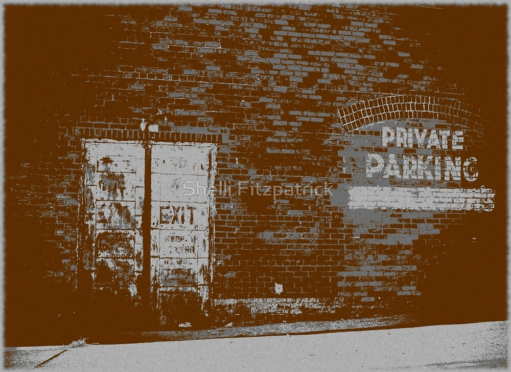 Bricktown Parking Signs by Shelli Fitzpatrick