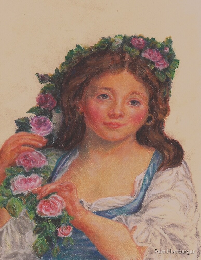 """""""Young Girl""""  from painting by Elisabeth Vigee LeBrun by Pam Humbargar"""