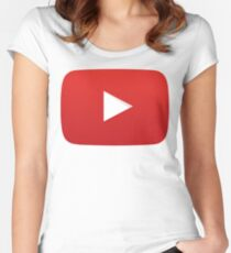 Youtube Play Button Women's Fitted Scoop T-Shirt