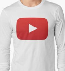 Youtube Play Button Long Sleeve T-Shirt