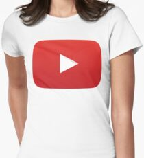 Youtube Play Button Women's Fitted T-Shirt