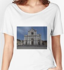 Santa Croce. Neo-Gothic Facade Women's Relaxed Fit T-Shirt
