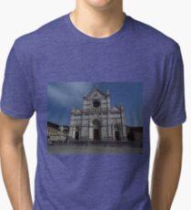 Santa Croce. Neo-Gothic Facade Tri-blend T-Shirt