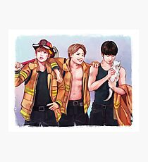 Firefighter Maknae Line  Photographic Print