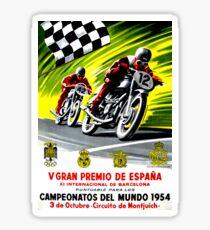 """SPANISH GRAND PRIX"" Vintage Motorcycle Advertising Print Sticker"