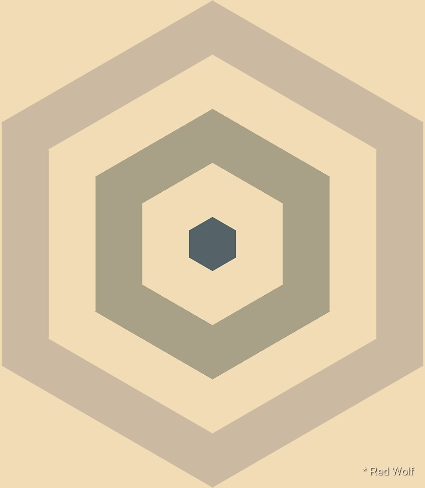Geometric Pattern: Hexagon Hive: Parchment by * Red Wolf