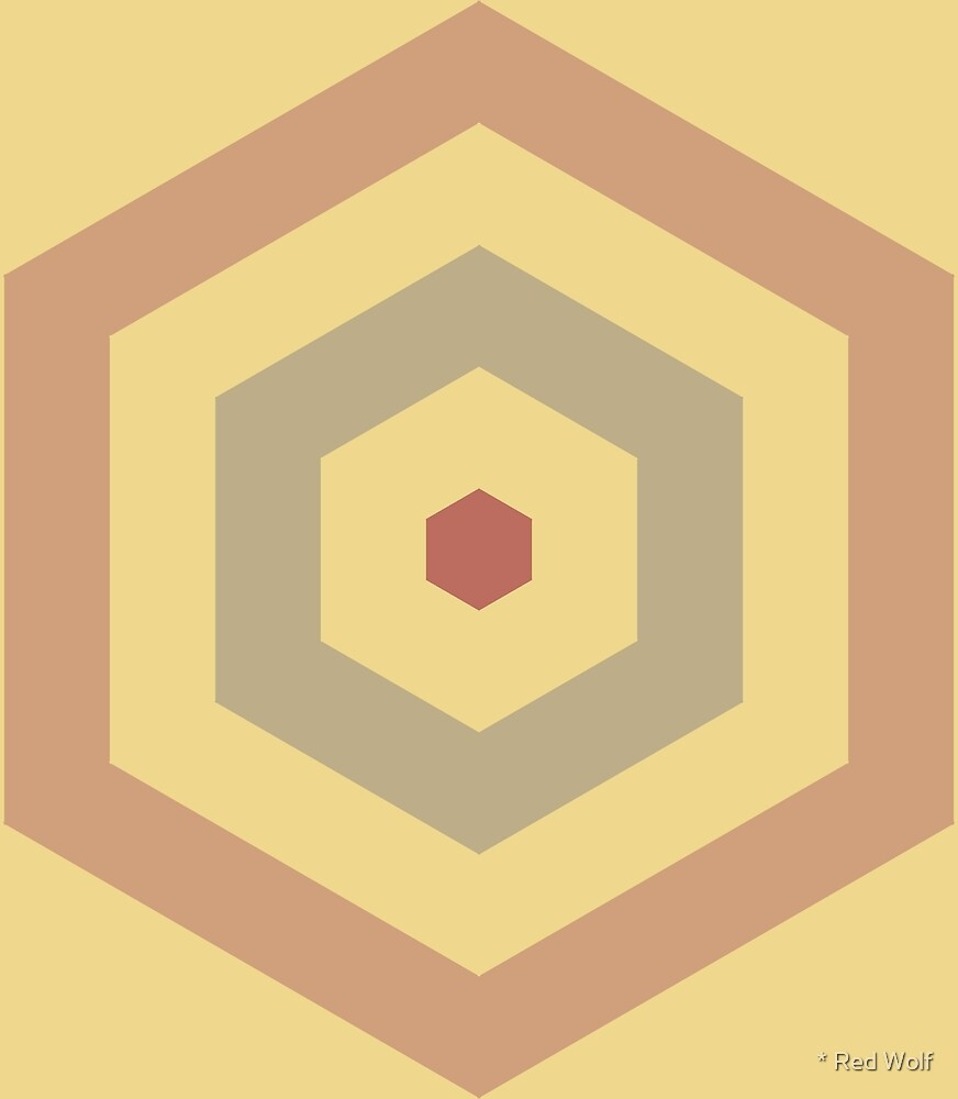 Geometric Pattern: Hexagon Hive: Oxide by * Red Wolf