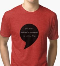 One stroke and you've consumed my waking days  Tri-blend T-Shirt