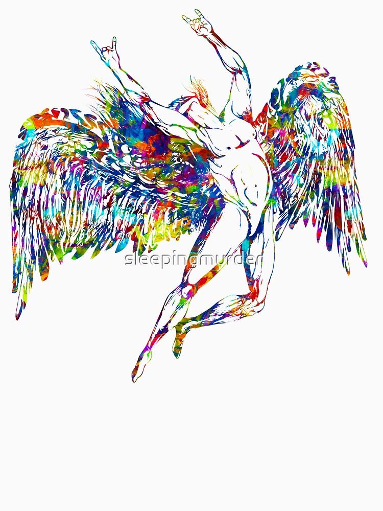 ICARUS THROWS THE HORNS - paint splotches  ***find hidden gems in my portfolio*** by sleepingmurder