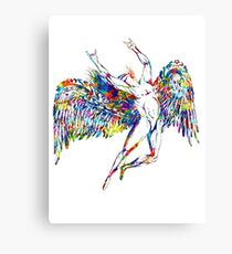 ICARUS THROWS THE HORNS - paint splotches  ***FAV ICARUS GONE? SEE BELOW*** Canvas Print