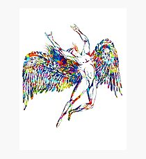 ICARUS THROWS THE HORNS - paint splotches  ***FAV ICARUS GONE? SEE BELOW*** Photographic Print
