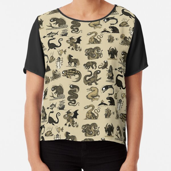Sea Monsters Collection Chiffon Top