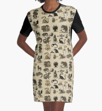 Sea Monsters Collection Graphic T-Shirt Dress