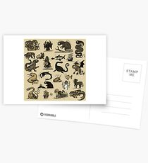 Sea Monsters Collection Postcards
