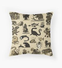 Sea Monsters Collection Throw Pillow