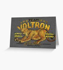 Yellow Paladin Vintage Shirt Greeting Card