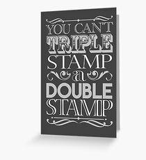 Triple Stamp Dark Greeting Card