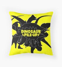 DINOSAUR PILE-UP Throw Pillow