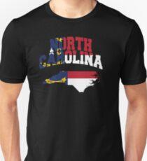 North Carolina Flag North Carolina Map Unisex T-Shirt
