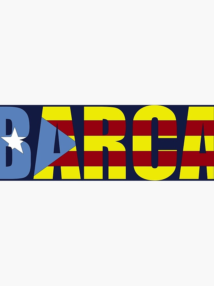 50a385a9b9a Barca FC Barcelona Flag of Catalonia Football T-Shirts and Gifts  Photographic Print