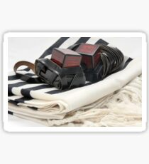 Cutout of Tifillin and Talit on white background Sticker