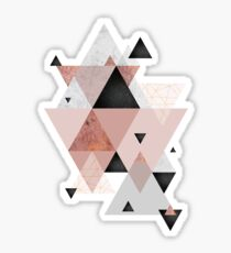 Geometric Compilation in Rose Gold and Blush Pink Sticker
