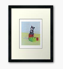 Duplo cat Framed Print