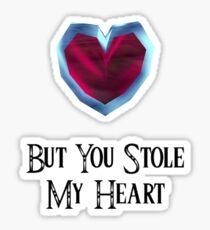 You Stole My Heart (Couple's Zelda Themed Items - Piece 2) Sticker