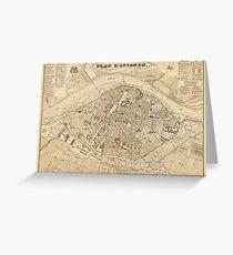 Map Of Avignon 1840 Greeting Card