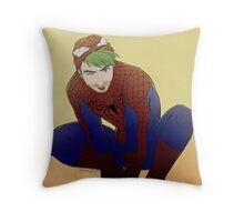 Jacksepticeye + Spiderman Throw Pillow