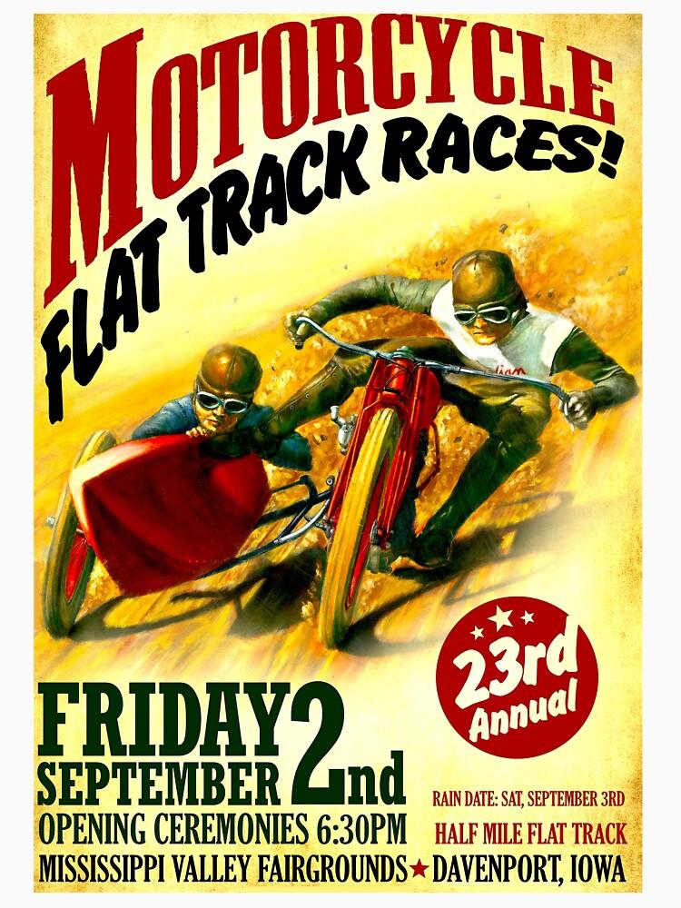 """""""MOTORCYCLE FLACHSTRECKE"""" Vintage Racing Print von posterbobs"""