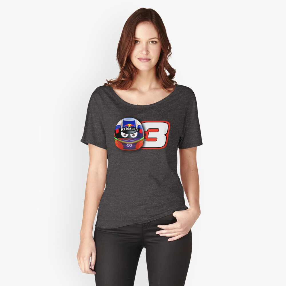 DANIEL RICCIARDO #3_2014 Women's Relaxed Fit T-Shirt Front