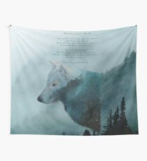 Wilderness Wolf and Poem Wall Tapestry