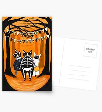 The Halloween Cats Postcards