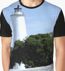 Ocracoke Island Lighthouse Graphic T-Shirt
