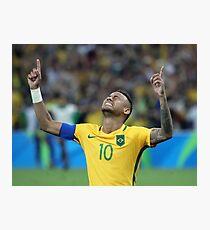 Neymar GOLD Olympics Rio 2016 (With Background)  Photographic Print