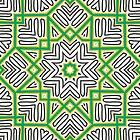 Green & Black Stars by Vickie Burt