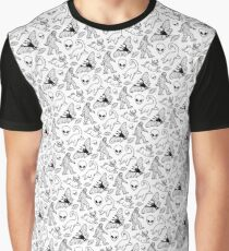 Cryptid Pattern (White Background)  Graphic T-Shirt