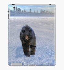 Animal Tracks - Black Bear and Snow iPad Case/Skin